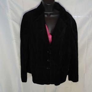 Lane Bryant black corduroy style blazer 22/24